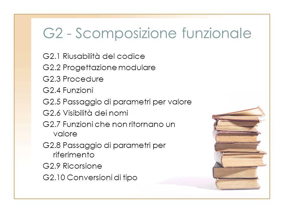G2 - Scomposizione funzionale
