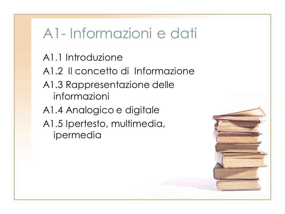 A1- Informazioni e dati