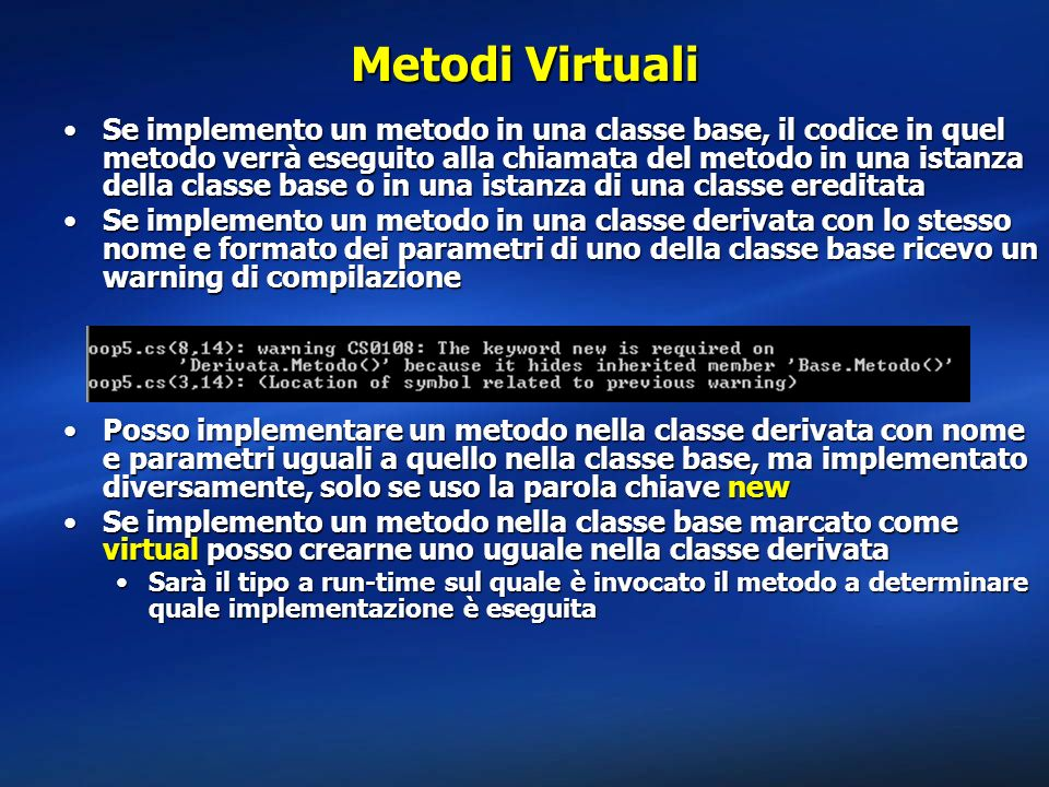 Metodi Virtuali