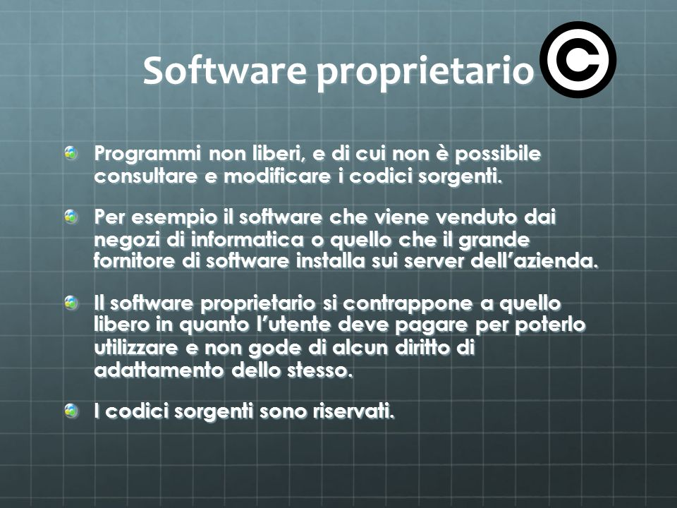 Software proprietario