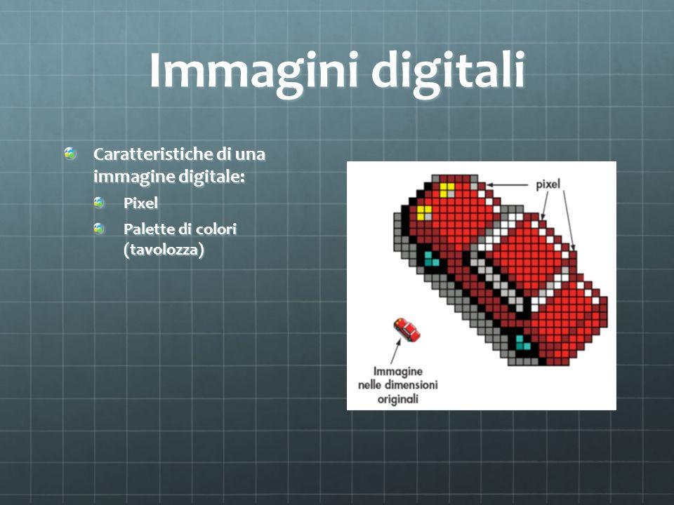 Immagini digitali Caratteristiche di una immagine digitale: Pixel