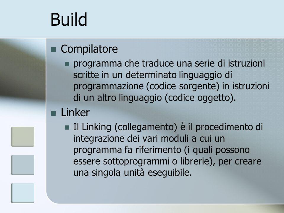 Build Compilatore Linker