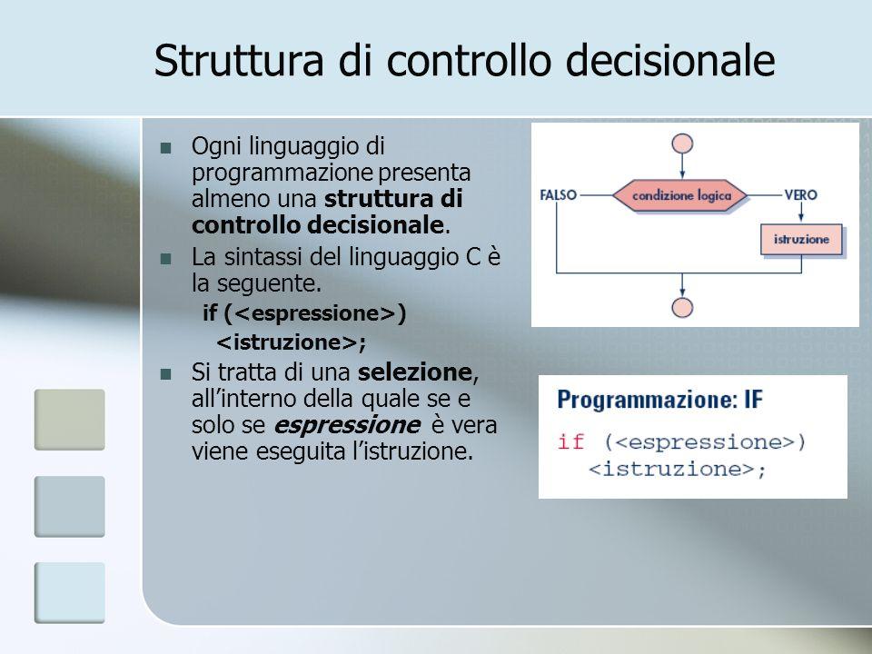 Struttura di controllo decisionale