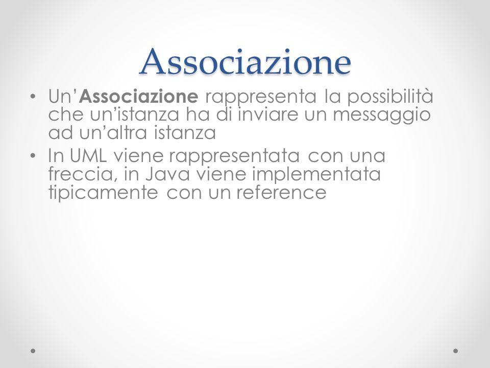 Associazione Un'Associazione rappresenta la possibilità che un'istanza ha di inviare un messaggio ad un'altra istanza.