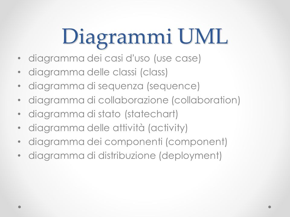 Diagrammi UML diagramma dei casi d'uso (use case)