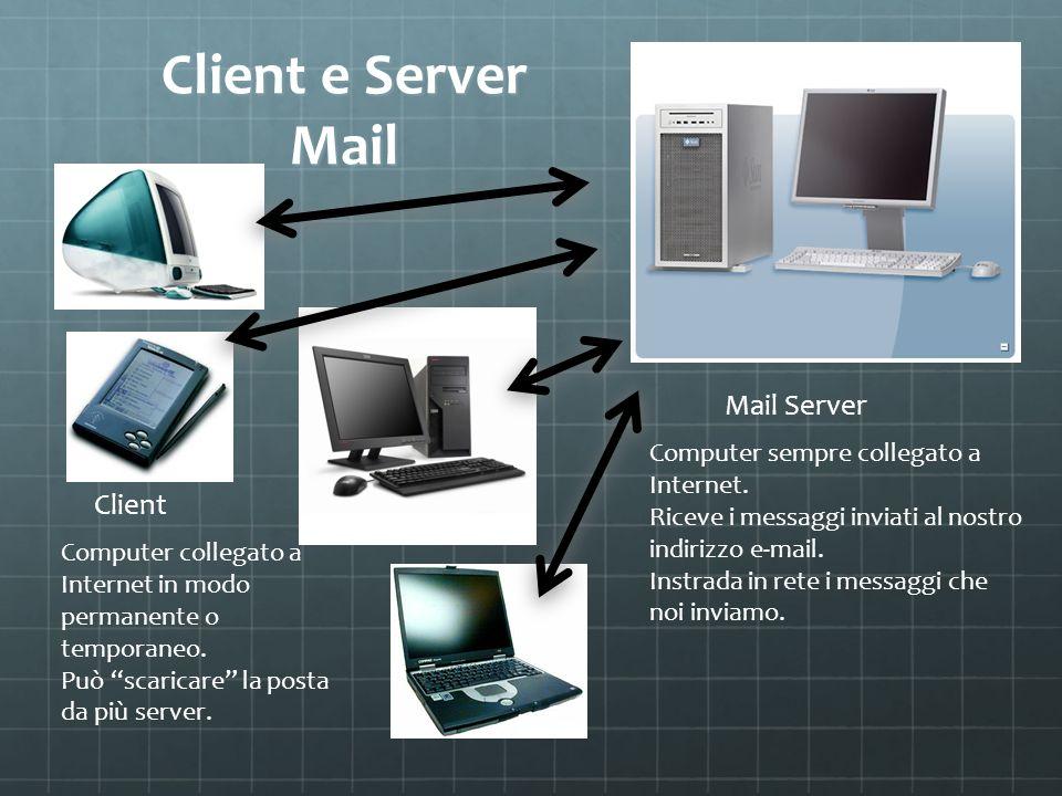 Client e Server Mail Mail Server Client