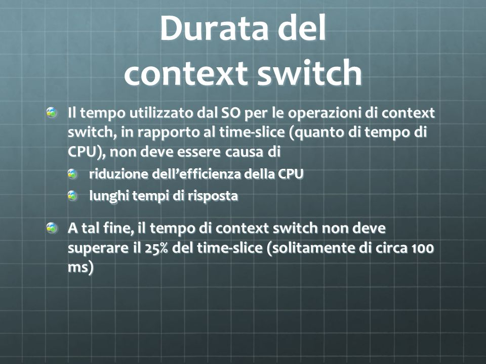 Durata del context switch