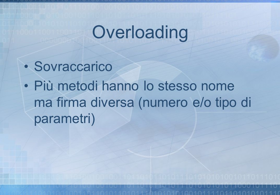 Overloading Sovraccarico