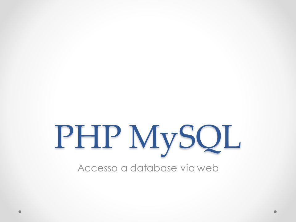 Accesso a database via web