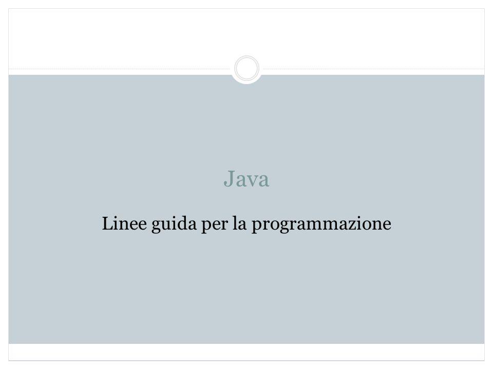 Linee guida per la programmazione
