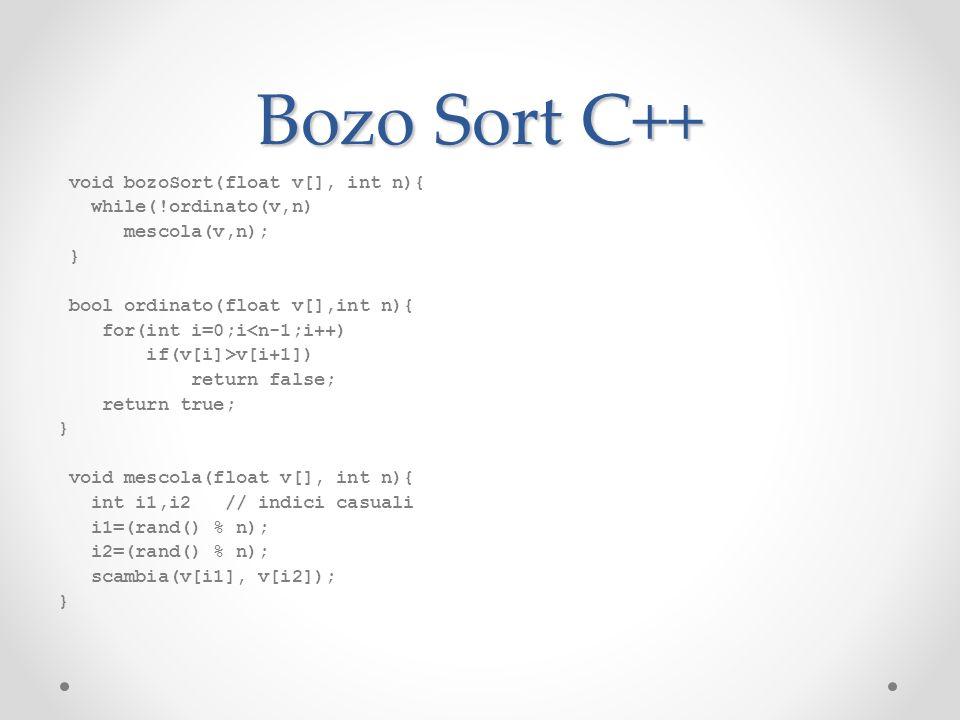 Bozo Sort C++