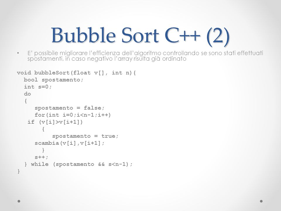 Bubble Sort C++ (2)