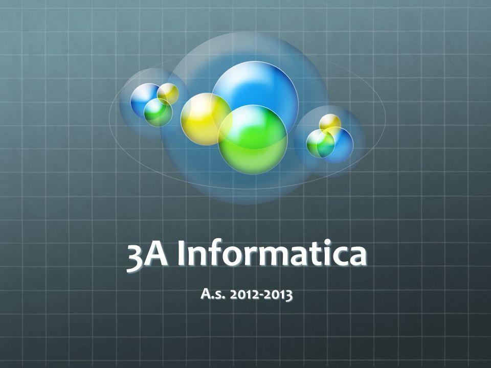 3A Informatica A.s. 2012-2013