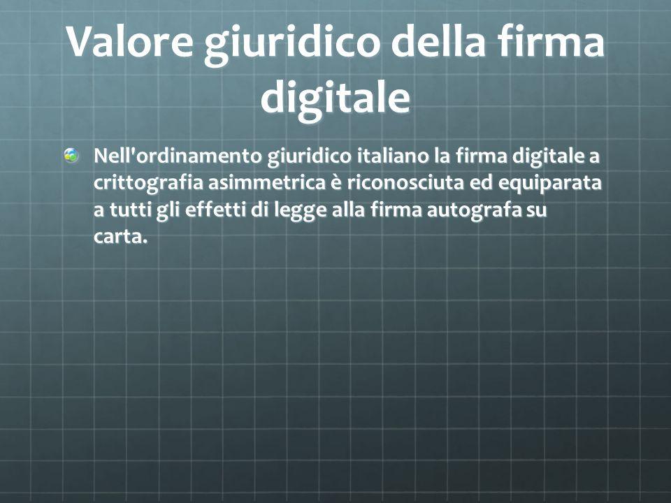 Valore giuridico della firma digitale