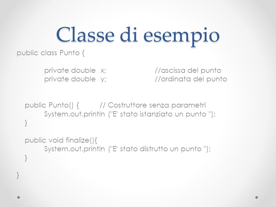 Classe di esempio