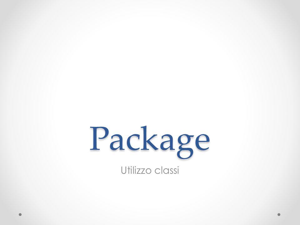 Package Utilizzo classi