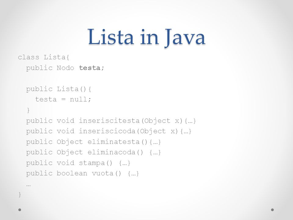 Lista in Java