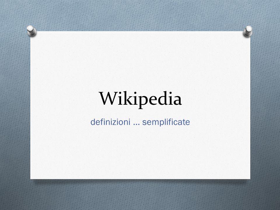 definizioni … semplificate