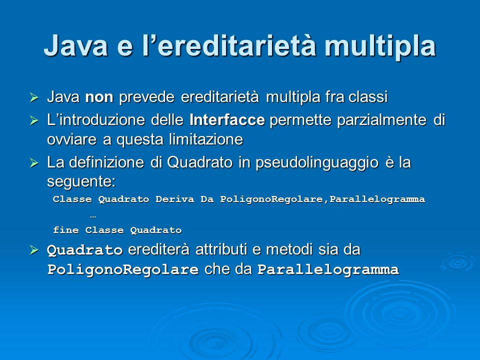Java e l'ereditarietà multipla