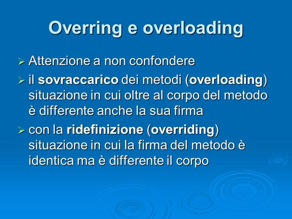 Overring e overloading