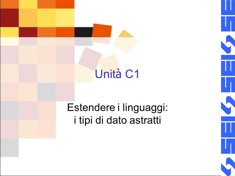 Estendere i linguaggi: i tipi di dato astratti