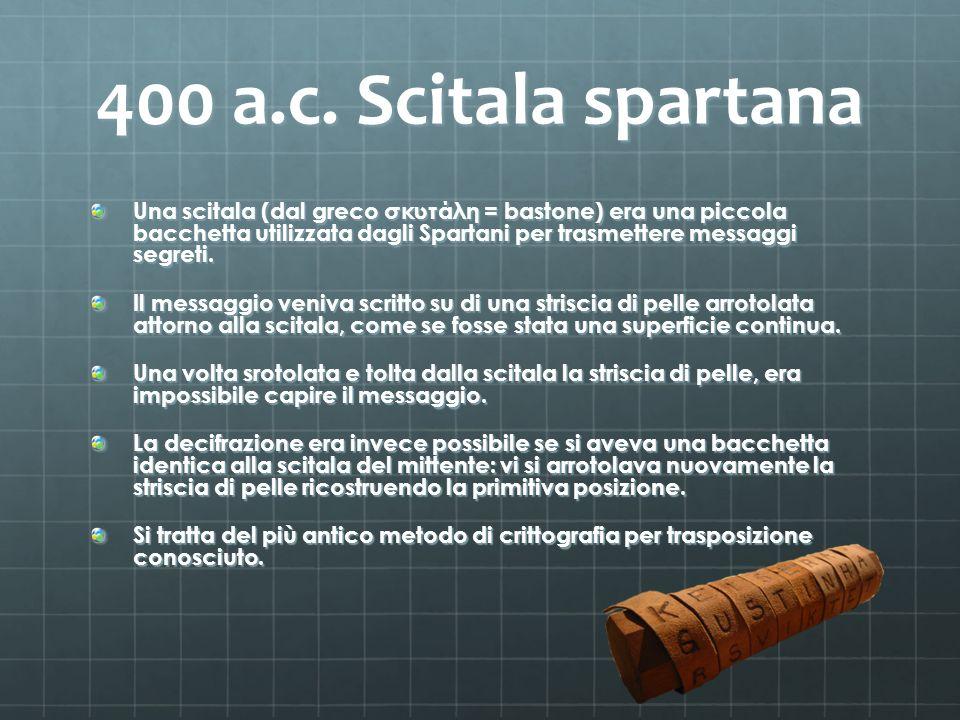 400 a.c. Scitala spartana