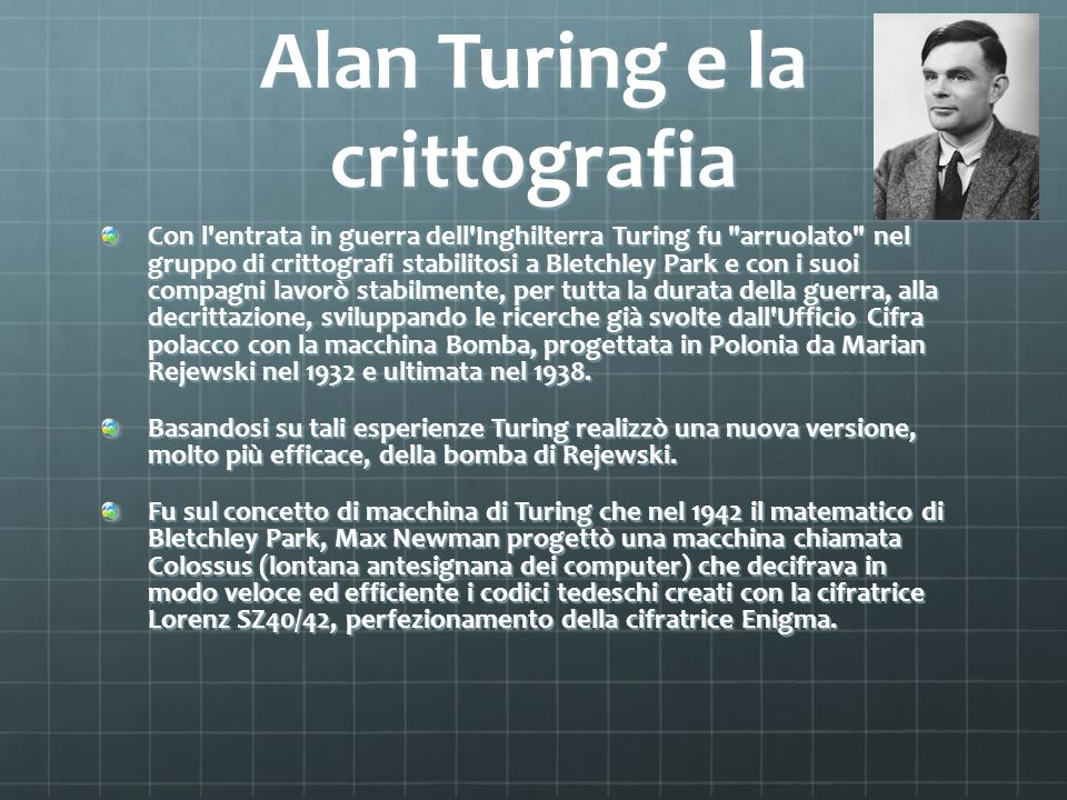 Alan Turing e la crittografia