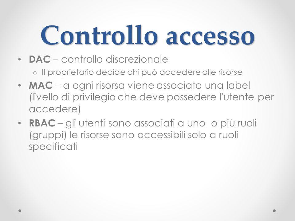 Controllo accesso DAC – controllo discrezionale