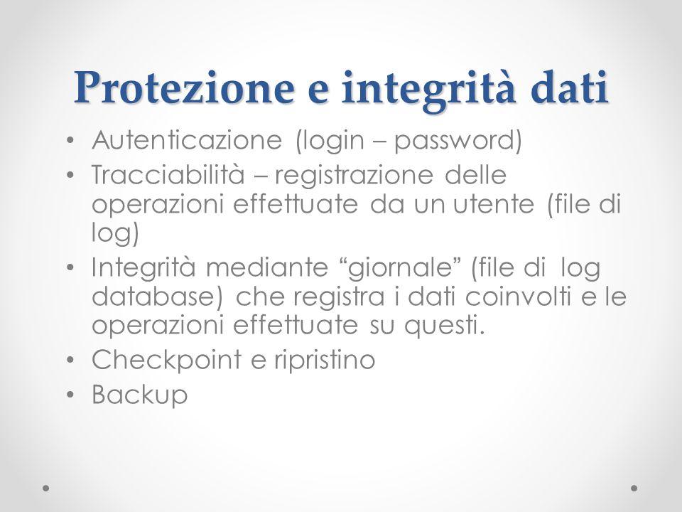 Protezione e integrità dati