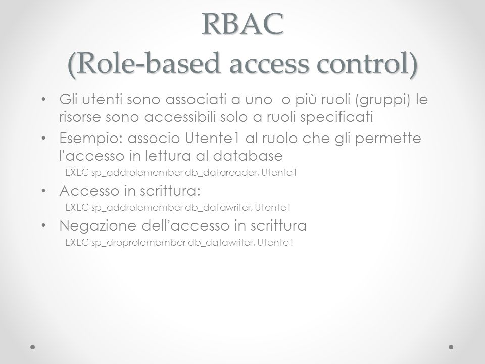 RBAC (Role-based access control)