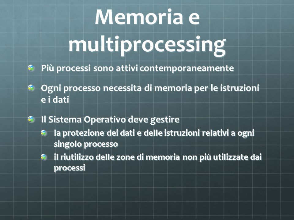 Memoria e multiprocessing