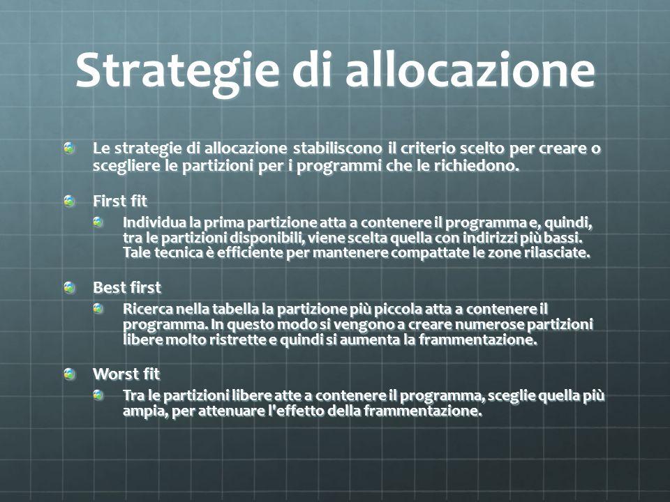 Strategie di allocazione