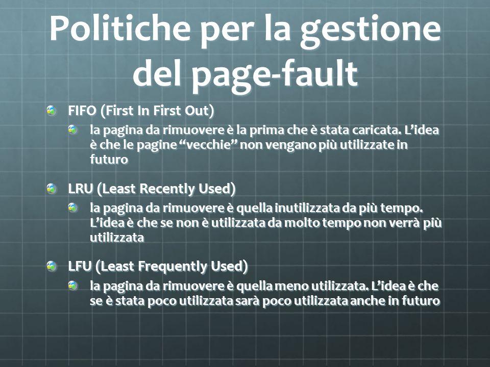 Politiche per la gestione del page-fault