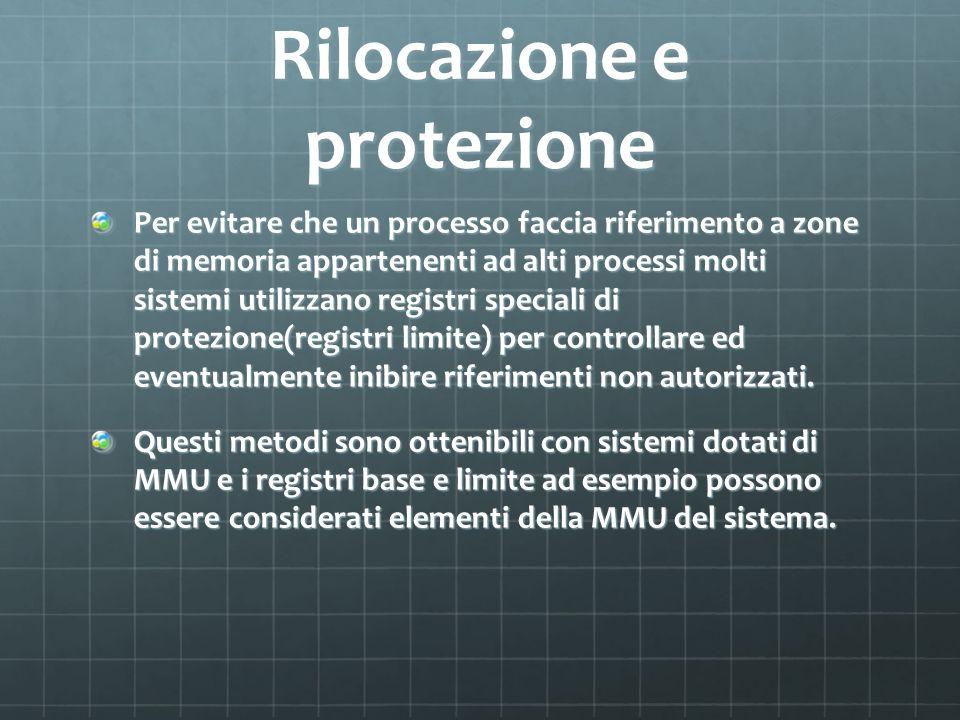 Rilocazione e protezione