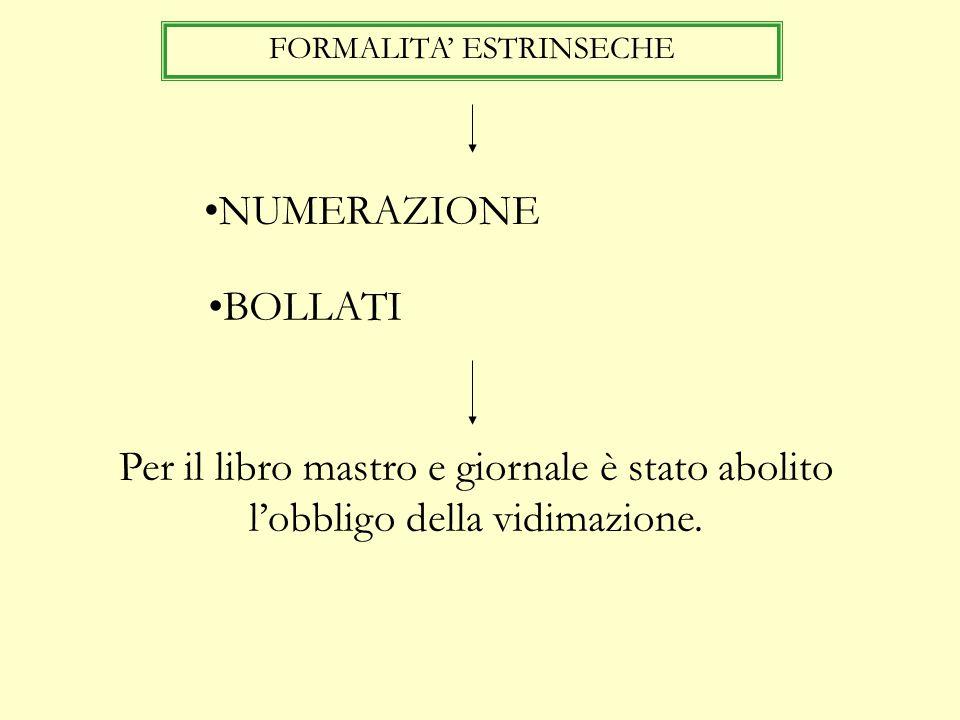 FORMALITA' ESTRINSECHE