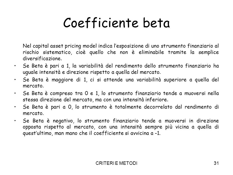 Coefficiente beta