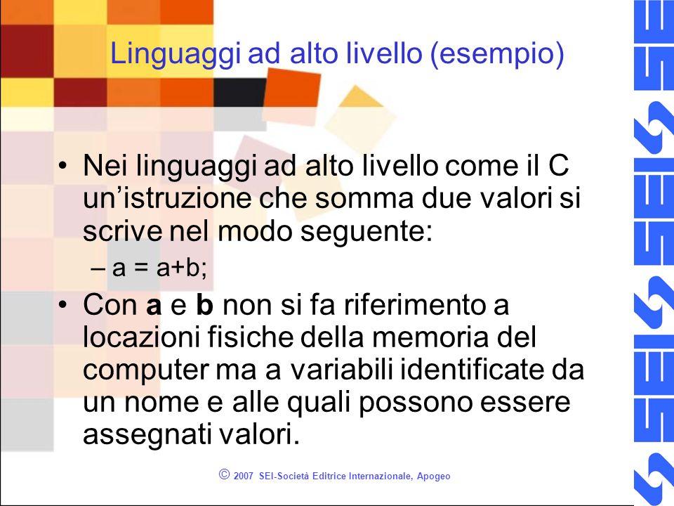 Linguaggi ad alto livello (esempio)