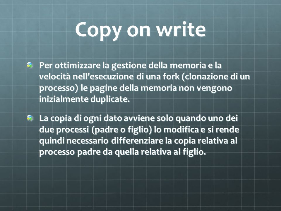 Copy on write