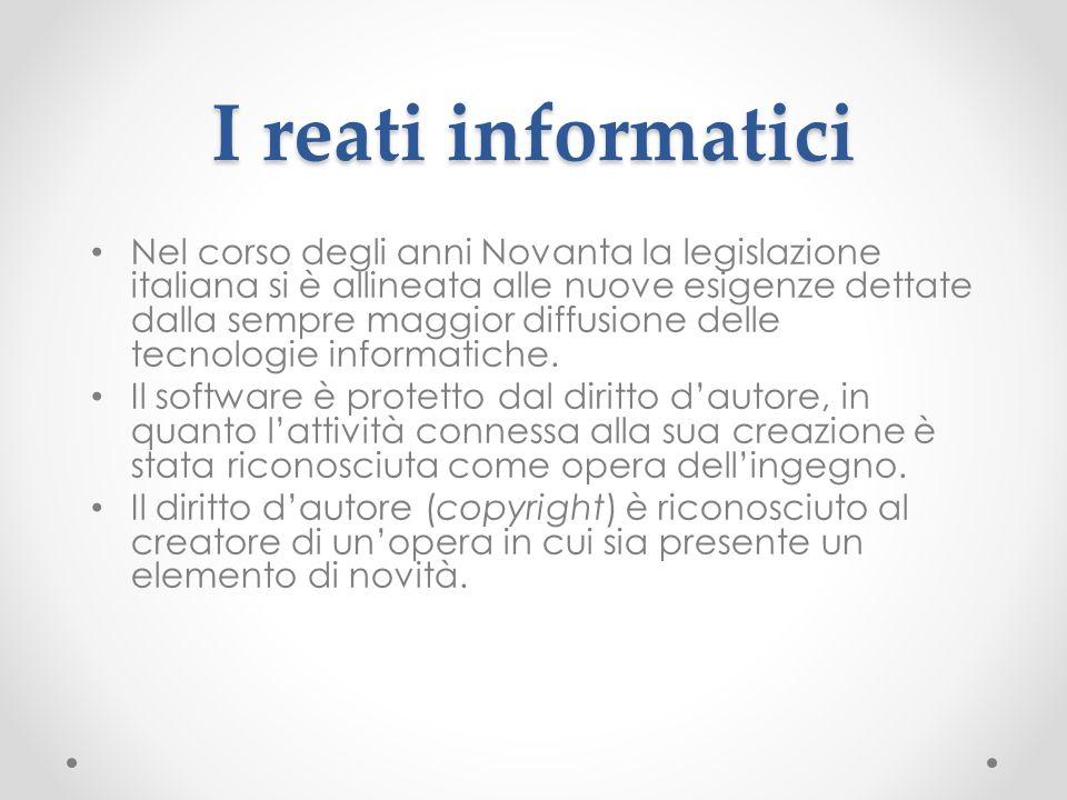 I reati informatici