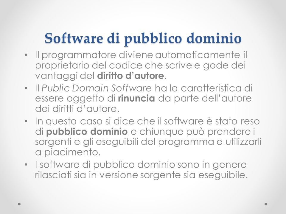 Software di pubblico dominio