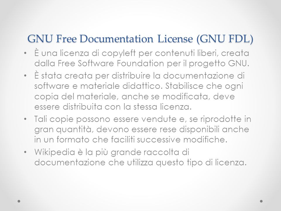 GNU Free Documentation License (GNU FDL)