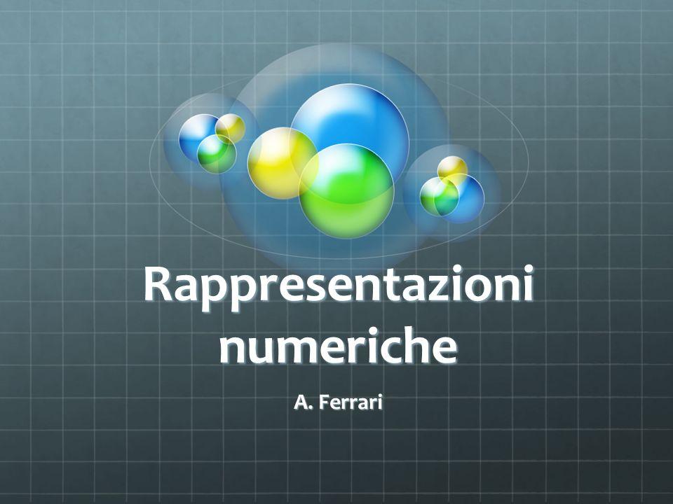 Rappresentazioni numeriche