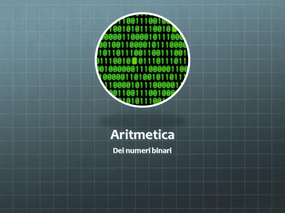 Aritmetica Dei numeri binari