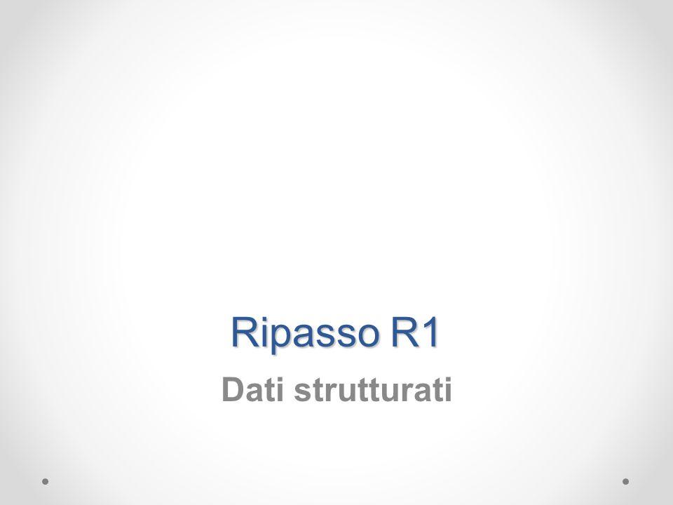 Ripasso R1 Dati strutturati