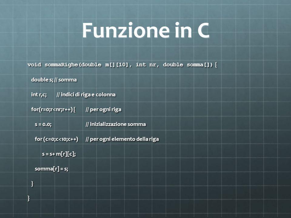Funzione in C