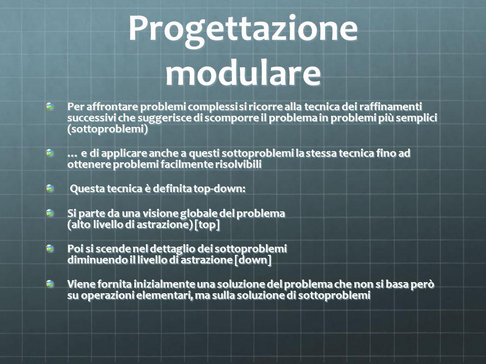 Progettazione modulare