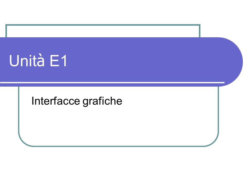 Unità E1 Interfacce grafiche