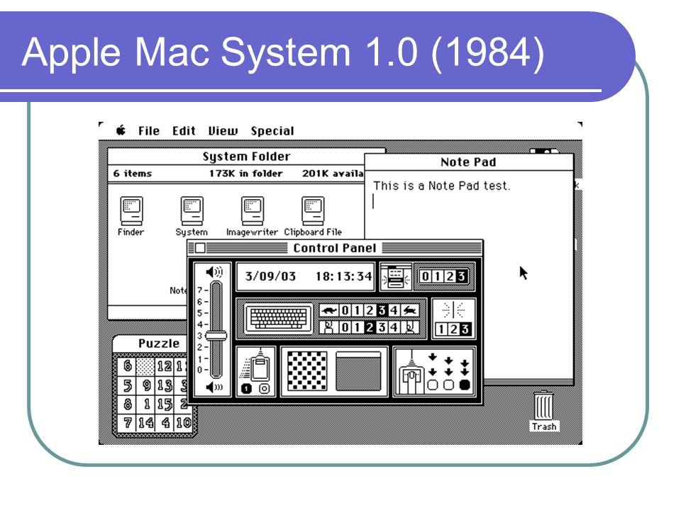 Apple Mac System 1.0 (1984)