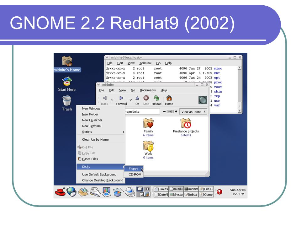 GNOME 2.2 RedHat9 (2002)