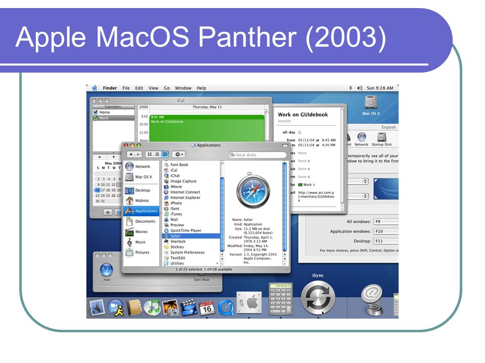 Apple MacOS Panther (2003)